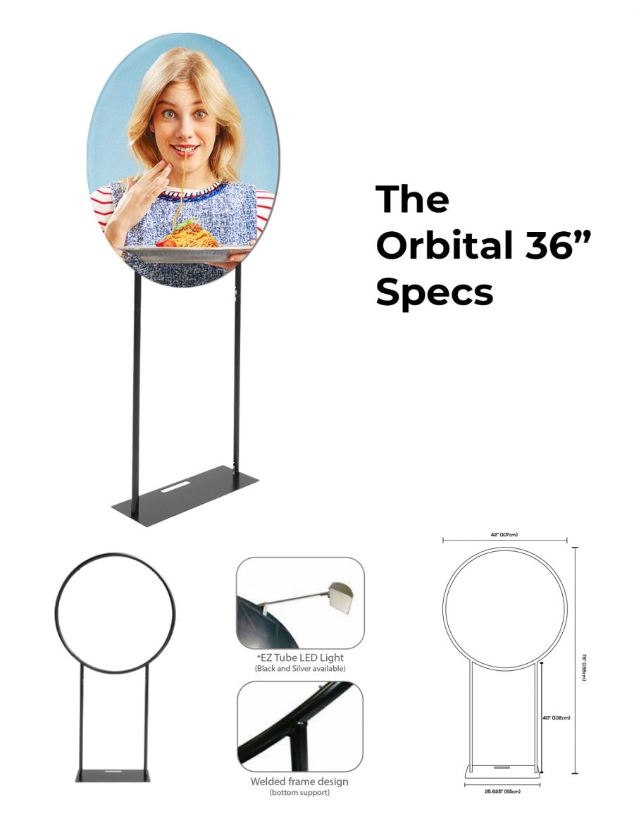 DisplayRabbit - The Modern – Orbital Stand – Specs