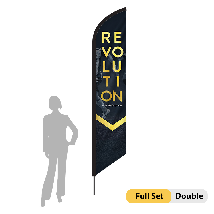 DisplayRabbit - 10.5ft Flag – Feather Angled Medium Double