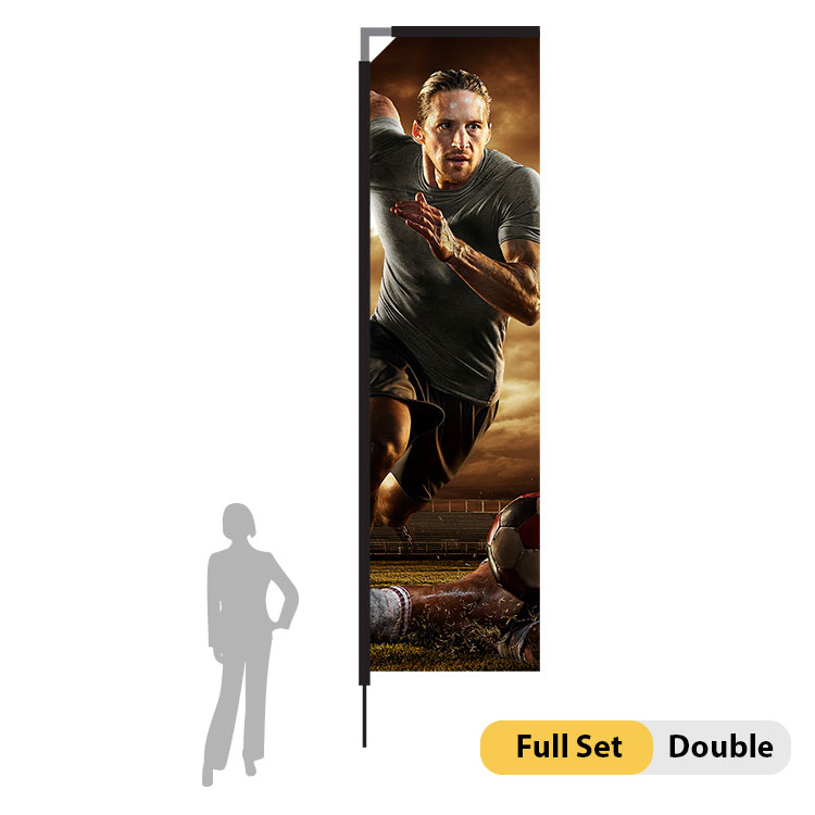 DisplayRabbit - 15ft Flag – Rectangle Large Double