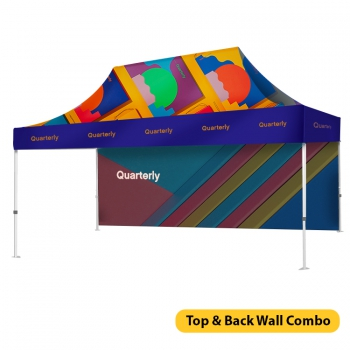 DisplayRabbit - Event Tent 15'x10′ – Back Wall Combo