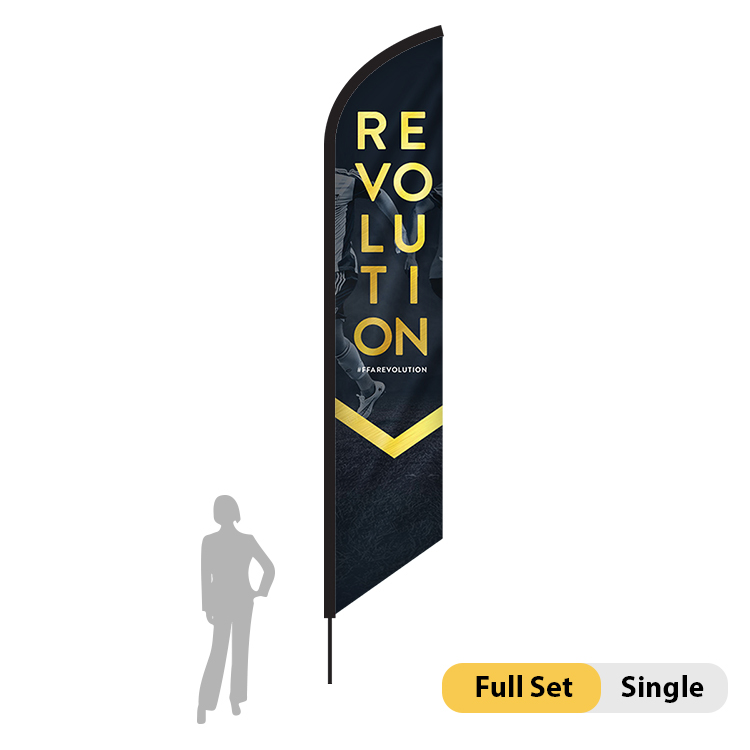 DisplayRabbit - 18ft Flag – Feather Angled XL Single