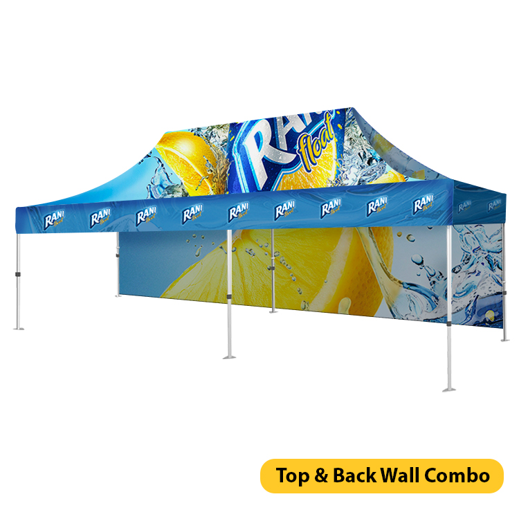 DisplayRabbit - Event Tent 20'x10′ – Back Wall Combo