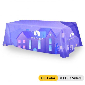 DisplayRabbit - Table Throw 8ft – 3 Sided (Full Color)