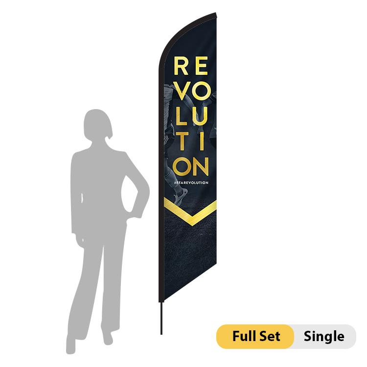 DisplayRabbit - 7ft Flag – Feather Angled X-Small – Single