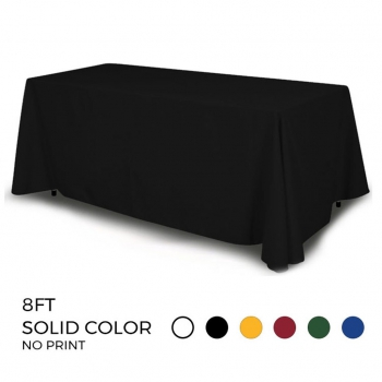 DisplayRabbit - Table Throw 8ft - 4 Sided (Solid Color)