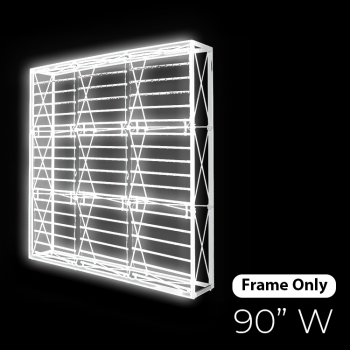 DisplayRabbit - The Vivid – Backlit – (7.5ft) – 90″x90″ – Frame Only