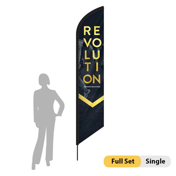 DisplayRabbit - 9ft Flag – Feather Angled Small Single