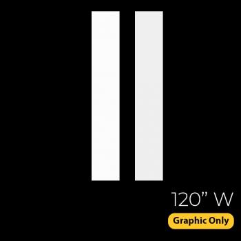 DisplayRabbit - The Vivid – Backlit – 120″x 90″ (10ft W) – End Caps